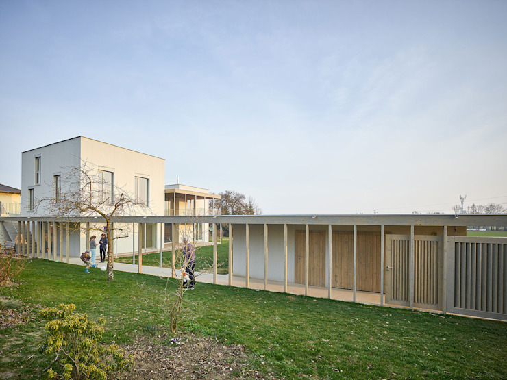 Haus mit PERGOLA mia2 Architektur Einfamilienhaus