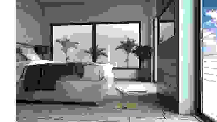 现代客厅設計點子、靈感 & 圖片 根據 AR216 現代風