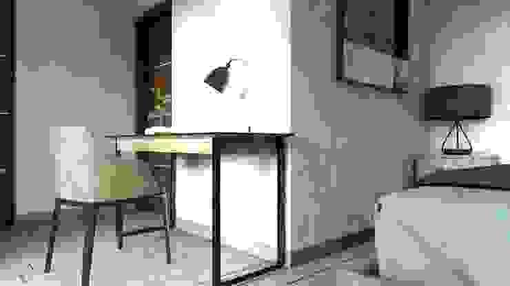 Modern corridor, hallway & stairs by AR216 Modern