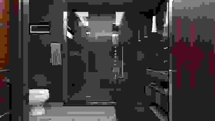 現代浴室設計點子、靈感&圖片 根據 AR216 現代風