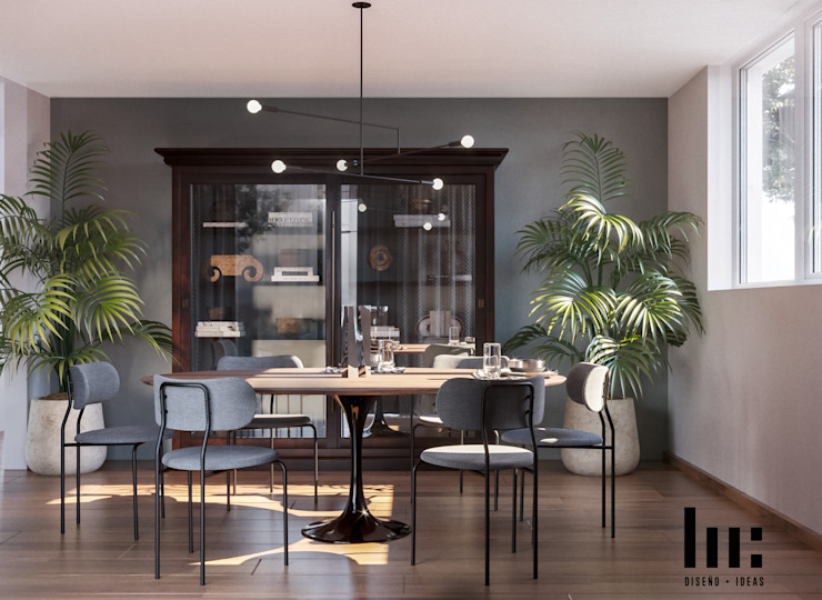 HC Arquitecto Ruang Makan Minimalis Kayu Wood effect
