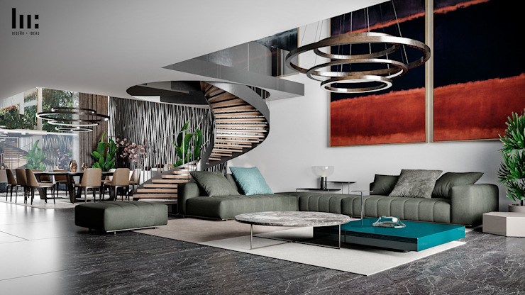 Salon minimaliste par HC Arquitecto Minimaliste