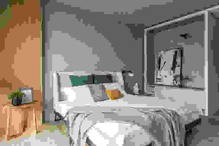 臥室的色調與客廳一致: 現代  by Fertility Design 豐聚空間設計, 現代風