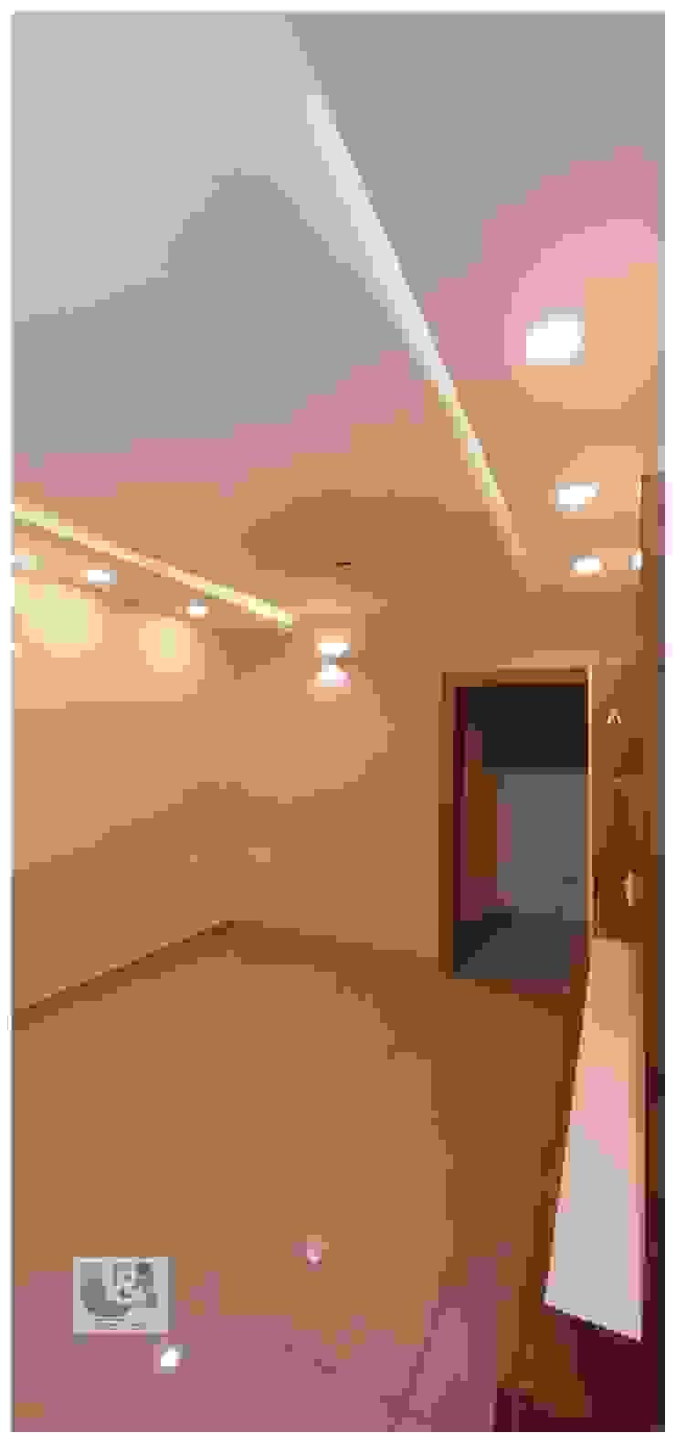 False ceiling U and I Designs Modern living room White