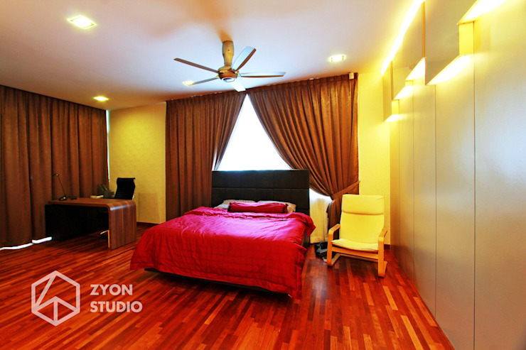 Kiara Residence Puchong ZYON STUDIO SDN BHD(fka zyon interior design sdn bhd) Modern style bedroom