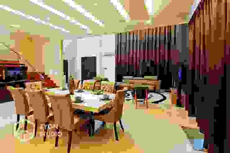 Kiara Residence Puchong ZYON STUDIO SDN BHD(fka zyon interior design sdn bhd) Modern dining room