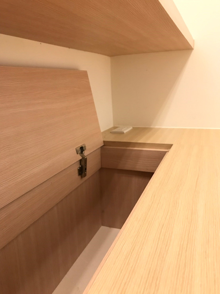 書房與收納床座的結合 根據 台中室內設計裝修 心之所向設計美學工作室 簡約風