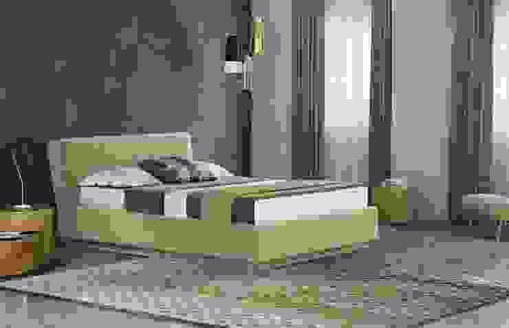 Cama estofada em tecido Upholstered fabric bed Cama 18 Intense mobiliário e interiores QuartoCamas e cabeceiras