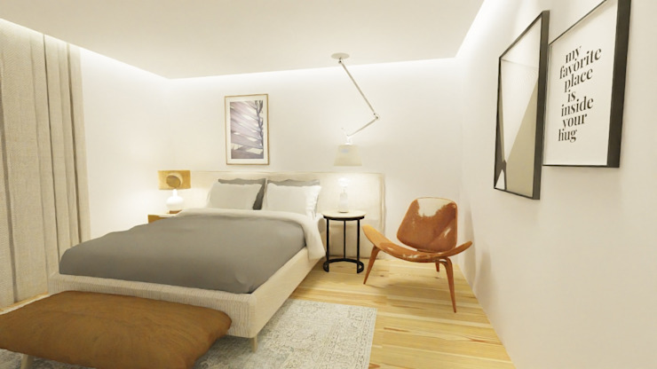 Country style bedroom by Form Arquitetura e Design Country