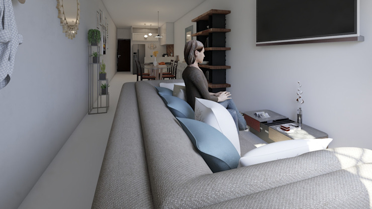 Diseño y decoración de interiores Pereira : Salas de estilo  por Arkiline Arquitectura Optativa, Moderno