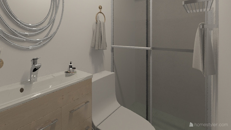 Diseño y decoración de interiores Pereira : Baños de estilo  por Arkiline Arquitectura Optativa, Moderno