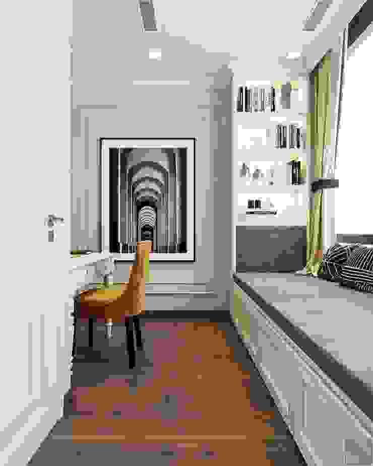 THIẾT KẾ CĂN HỘ LANDMARK 81 MS.UYEN – Phong cách Bán cổ điển với tông màu tươi sáng Phòng học/văn phòng phong cách kinh điển bởi ICON INTERIOR Kinh điển