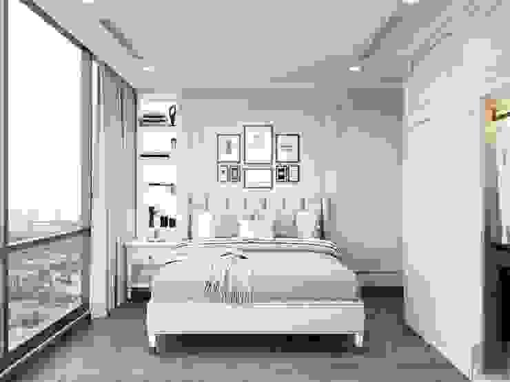 THIẾT KẾ CĂN HỘ LANDMARK 81 MS.UYEN – Phong cách Bán cổ điển với tông màu tươi sáng Phòng ngủ phong cách kinh điển bởi ICON INTERIOR Kinh điển