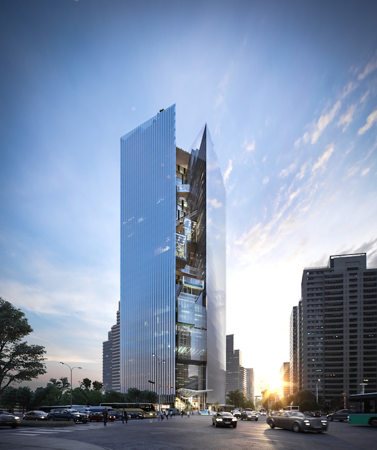 Commercial Bank Headquarters Mixed-use Project Classic style study/office by Architecture by Aedas Classic Metal