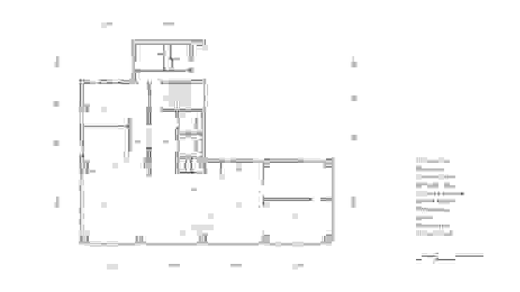 반포동 E 사무실 인테리어 리모델링 - 평면도: studio FOAM Architects의 현대 ,모던