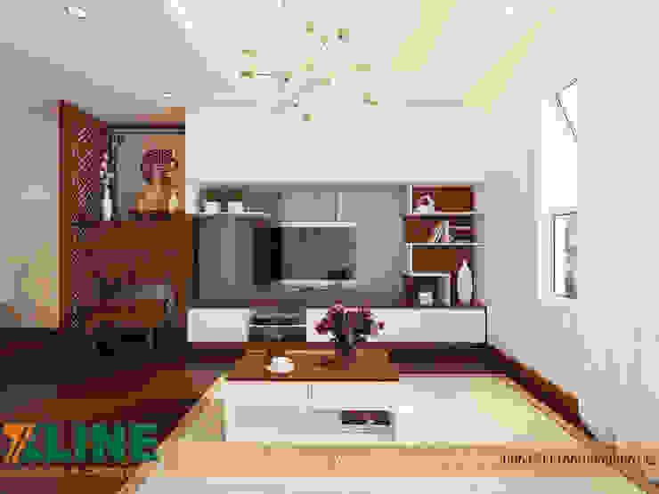 Modern living room by NỘI THẤT XLINE Modern Wood Wood effect