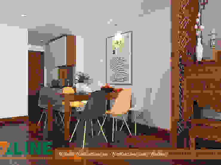 Modern dining room by NỘI THẤT XLINE Modern Wood Wood effect