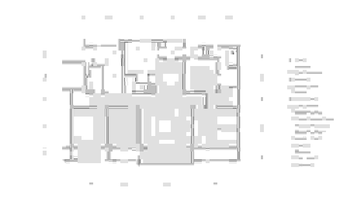 죽전 중앙하이츠 아파트 57평 인테리어 리모델링 - 평면도: studio FOAM Architects의 현대 ,모던