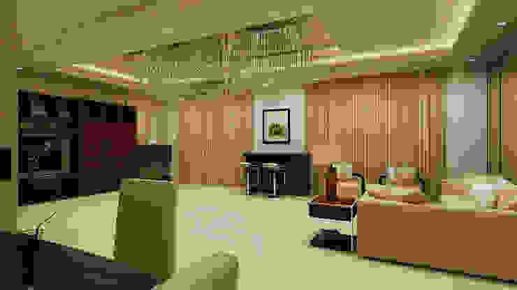 Mantri Espana Modern living room by De Panache Modern