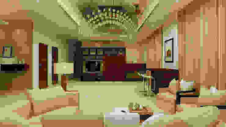 Mantri Espana homify Modern living room