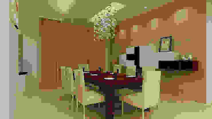 Mantri Espana Modern dining room by De Panache Modern