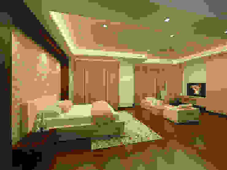 Mantri Espana Modern style bedroom by De Panache Modern