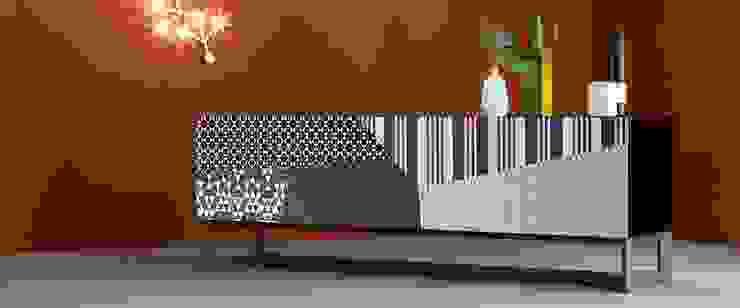 Madia ante diagonali cromatiche L&M design di Marelli Cinzia Soggiorno minimalista