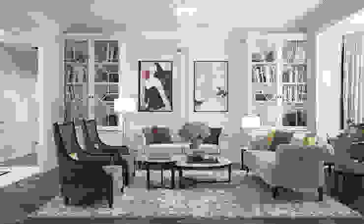 Парижская квартира Гостиная в классическом стиле от Инна Азорская Классический