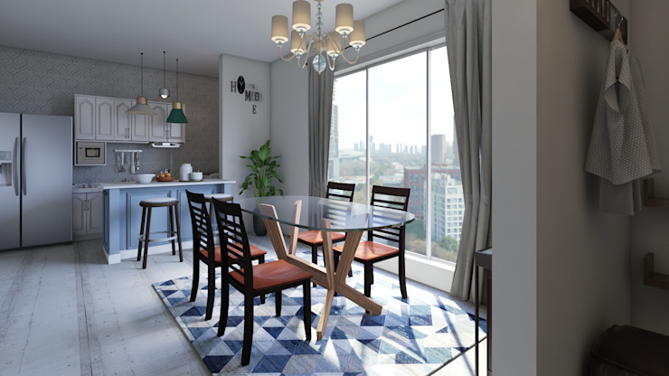 Decoración Casa - Comedor y cocina en la Ciudad de Tunja Comedores de estilo moderno de Arkiline Arquitectura Optativa Moderno Vidrio