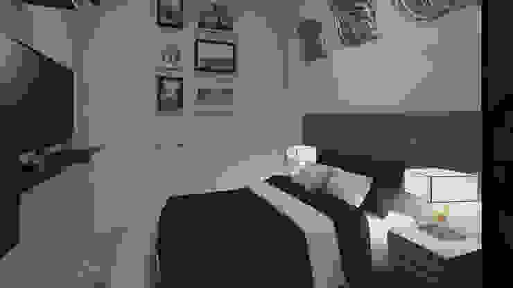 Decoración Casa - Alcoba Principal en la Ciudad de Tunja Habitaciones modernas de Arkiline Arquitectura Optativa Moderno Aglomerado