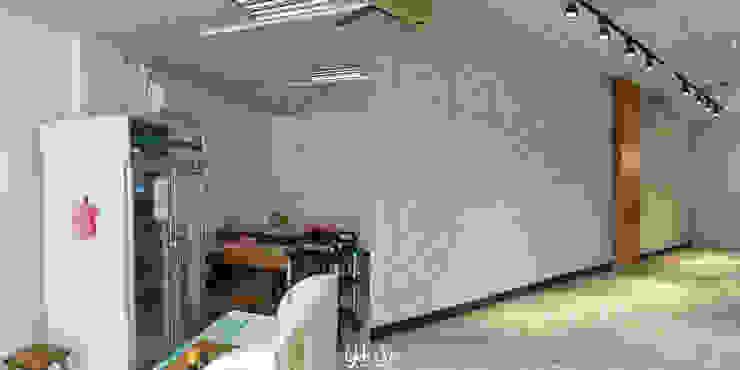 用餐區牆面:  國家  by 業傑室內設計, 鄉村風