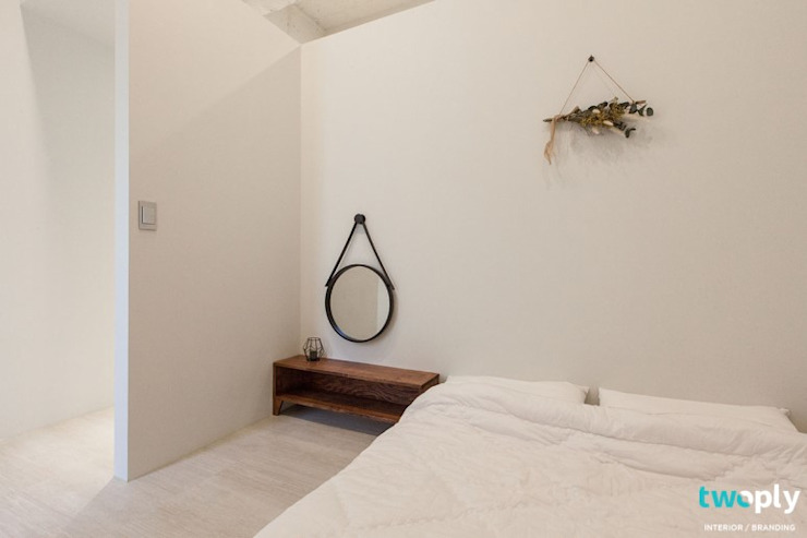 전주인테리어 팔레트 가든, 상가주택 인테리어 아시아스타일 침실 by 디자인투플라이 한옥