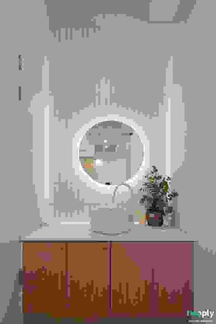 전주인테리어 팔레트 가든, 상가주택 인테리어 아시아스타일 욕실 by 디자인투플라이 한옥