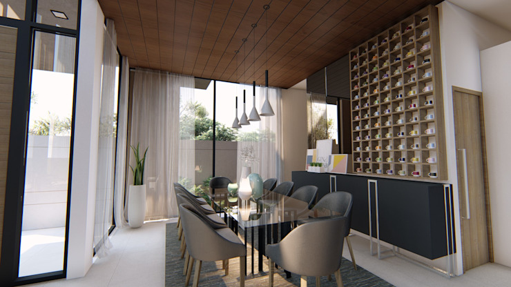 View of Dining Area Modern dining room by Structura Architects Modern Wood Wood effect