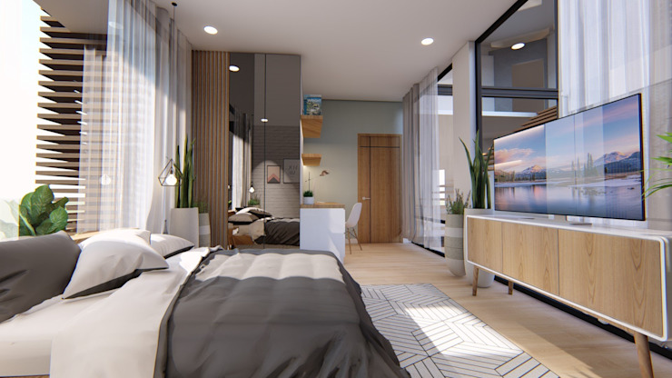 View of Bedroom 2 by Structura Architects Modern