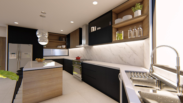 View of Kitchen by Structura Architects Modern Granite