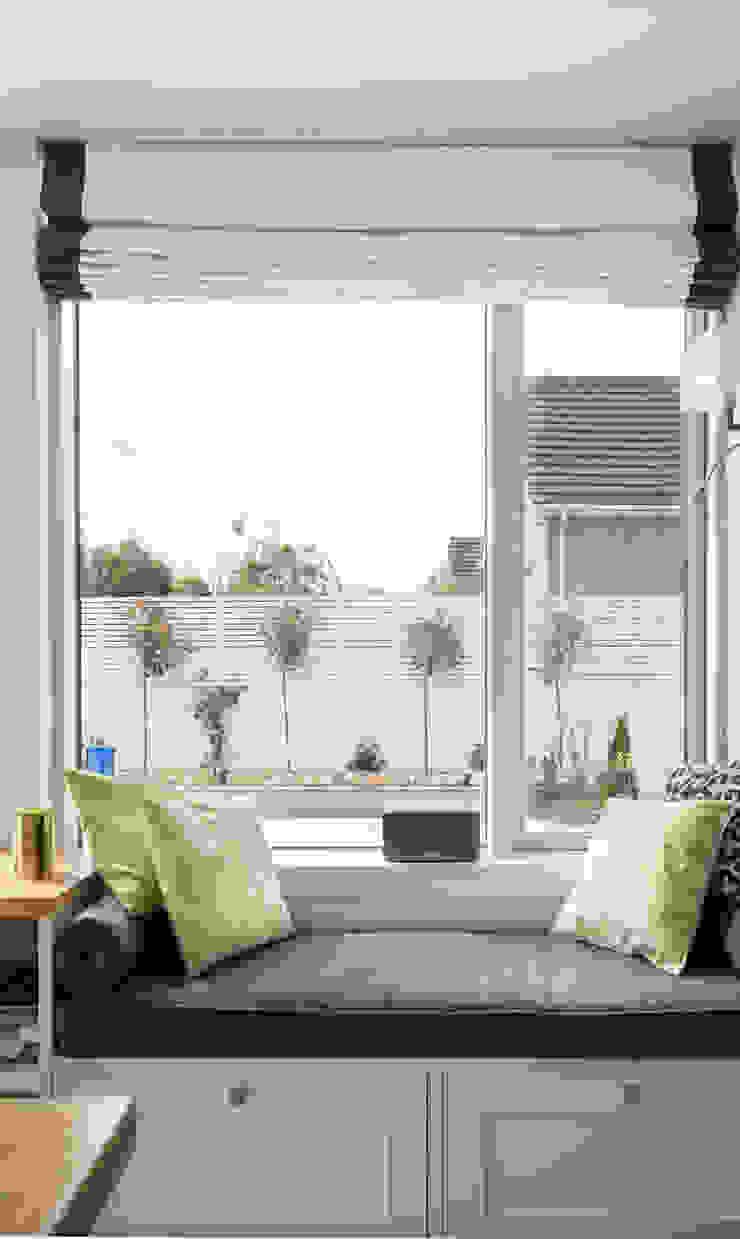 Slimline aluminium clad wood side window Marvin Windows and Doors UK Living roomLighting