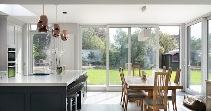 Kitchen and dinning room interior Marvin Windows and Doors UK KitchenLighting