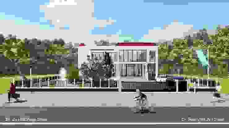 太陽能藝術別墅 Solar Art Villa by 盧博士虛擬實境設計工坊 Modern Glass