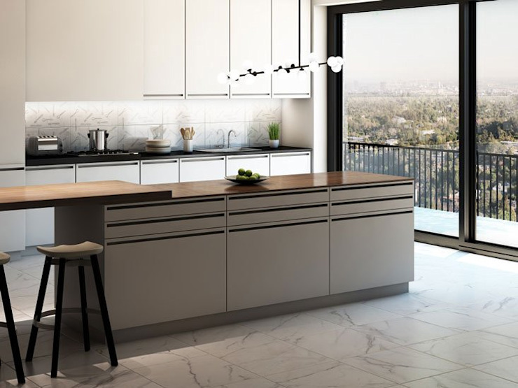 Interceramic MX Modern style kitchen Ceramic Beige