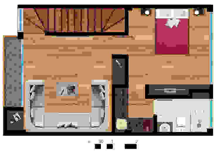 Reserva el Lago Piso 3-1. Habitaciones modernas de PLASS Arquitectura & Construcción Moderno