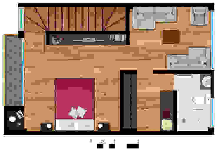 Reserva el Lago Piso 3-2. Habitaciones modernas de PLASS Arquitectura & Construcción Moderno