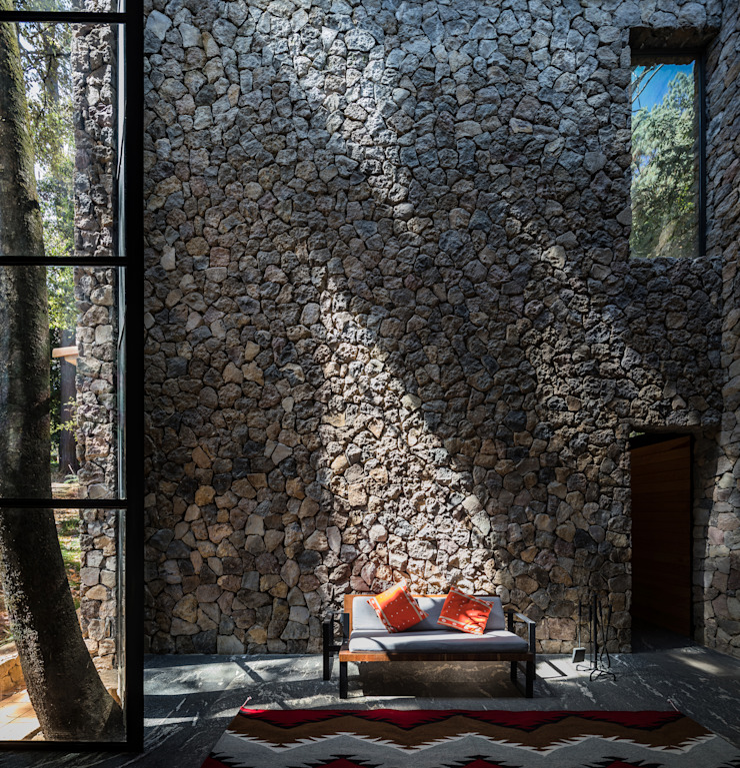 Saavedra Arquitectos 客廳 石器 Grey
