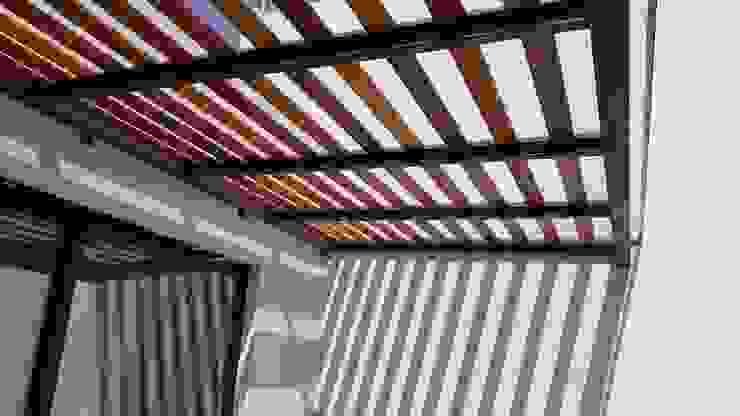 CASA-GP Balcones y terrazas de estilo moderno de RIVERA ARQUITECTOS Moderno Madera Acabado en madera