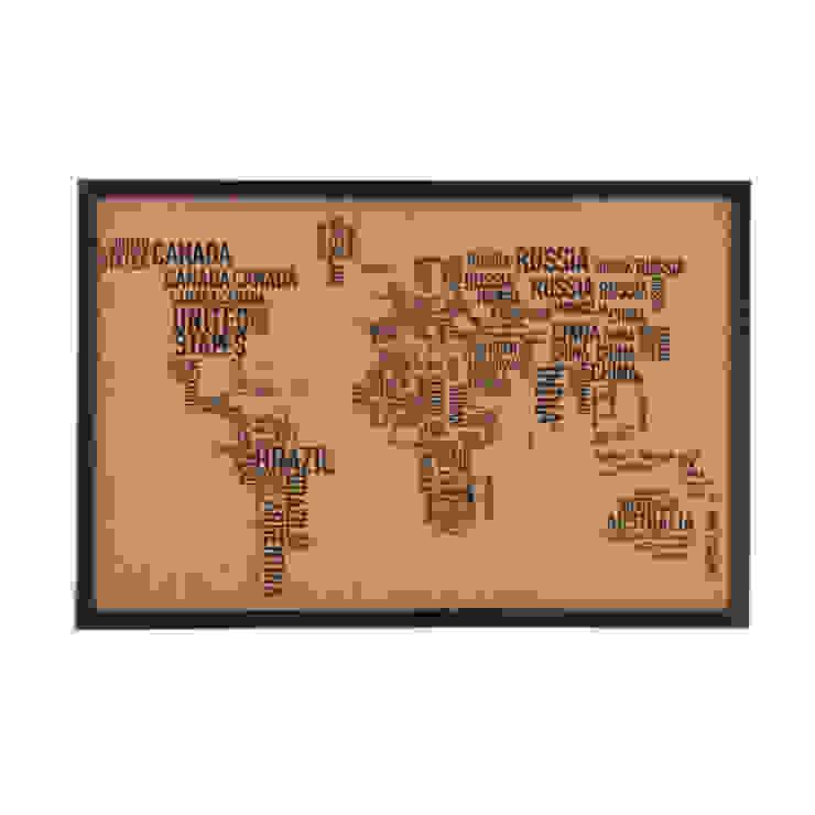 Tablero de notas de corcho del mapamundi Go4cork EstudioAccesorios y decoración Corcho Acabado en madera