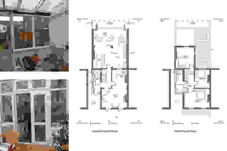 Architect designed house extension Maryland Newham E15 - Floor plans GOAStudio | London residential architecture