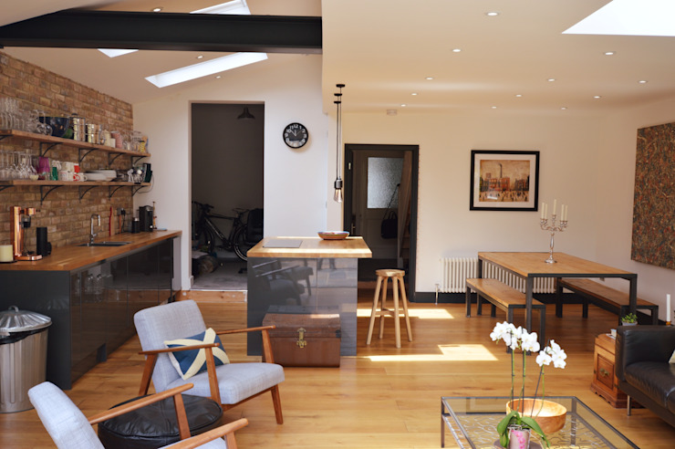 Architect designed house extension Maryland Newham E15 - Kitchen and dining GOAStudio | London residential architecture Modern kitchen