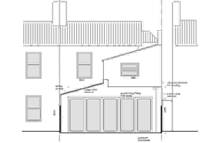 Architect designed house extension Maryland Newham E15 - Rear Elevation GOAStudio | London residential architecture