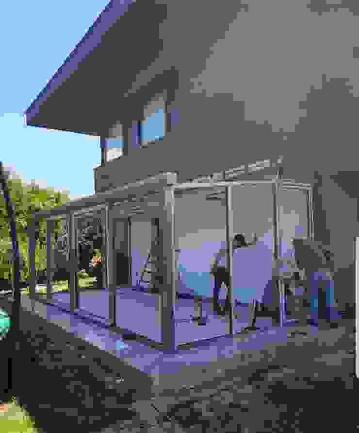 Yapısan Cephe Sistemleri Moderner Wintergarten Aluminium/Zink Grau