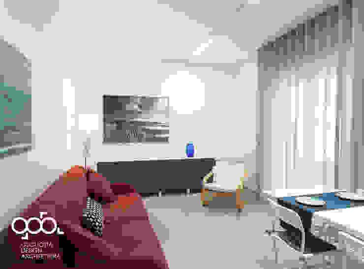 现代客厅設計點子、靈感 & 圖片 根據 giovanni gugliotta architetto 現代風